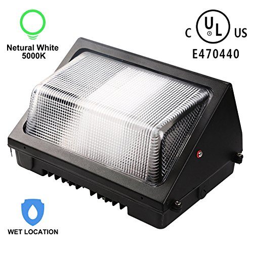 Enegitech 60w Led Wall Pack Light 6055 Lumens 5000k