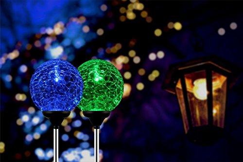 Esky SL75 Crystal Glass Globe Color Changing LED Solar Lights/ Christmas Light Decoration ...