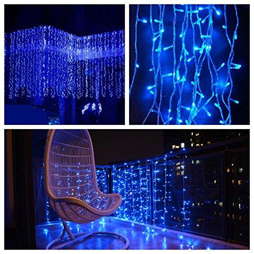 FEFE BLUE Led Party Lights 9.8ft*9.8ft 304 LEDs Lights ...