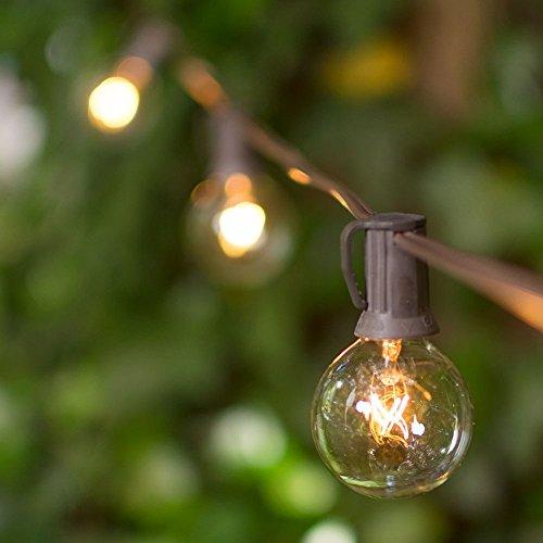 Globe String Lights 1 5 Inch E12 Bulbs 25 Foot Brown