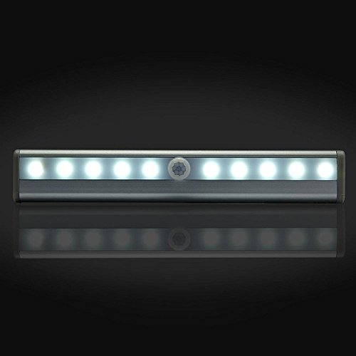 Battery Powered Under Cabinet Led Strip Lighting: Goldenwide® DIY Stick-on Anywhere Portable 10-LED Wireless