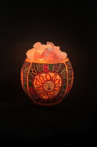 Himalayan Salt Lamp In A Bowl Salt Rocks In A Tribal