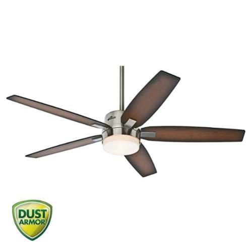 Hunter Denali 54 Brushed Nickel Shinebrite Ceiling Fan: Hunter 59039, Windemere Brushed Nickel 54″ Ceiling Fan