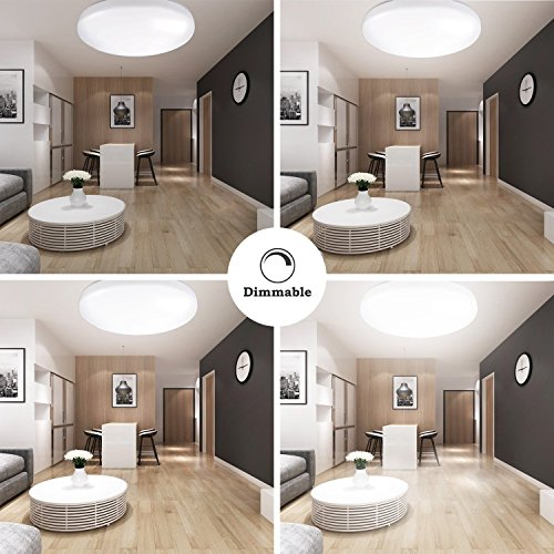 40 Bright Living Room Lighting Ideas: LE® 40W Dimmable Daylight White 19.3-Inch LED Ceiling