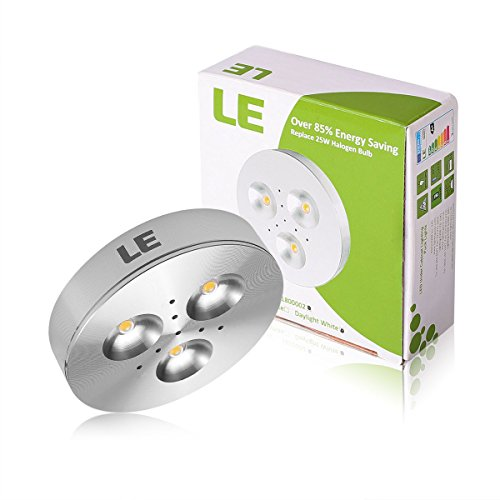 le brightest led under cabinet lighting puck lights 25w halogen replacement cool white. Black Bedroom Furniture Sets. Home Design Ideas