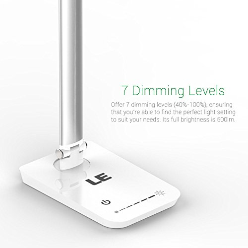 LE® Dimmable LED Desk Lamp, 7 Dimming Levels, Eye-care, 8W ...