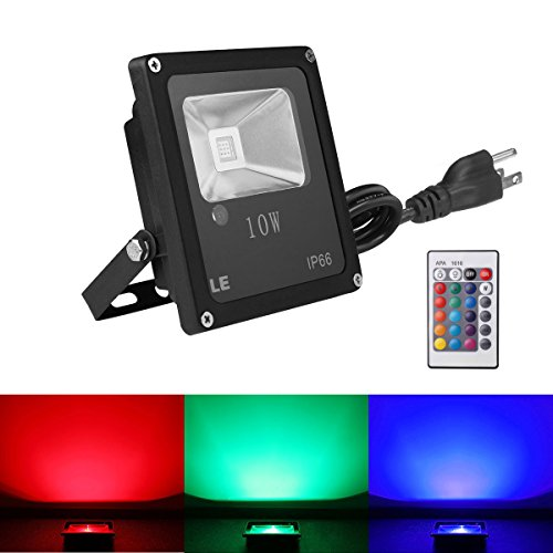 Le Remote Control 10w Rgb Led Flood Lights Color Changing