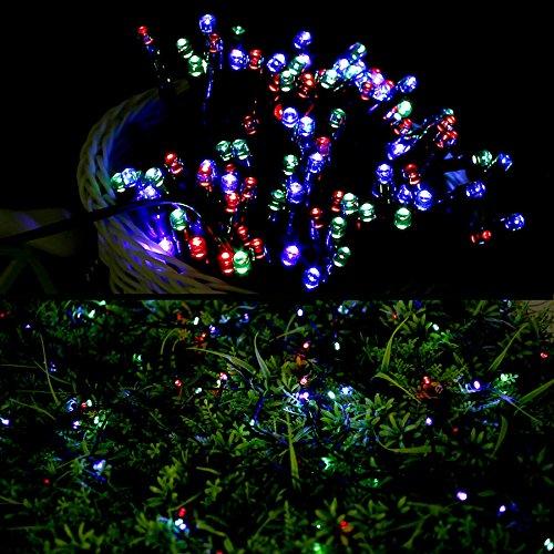 Le 174 Solar Powered Led Fairy String Lights 100 Leds 55 Ft