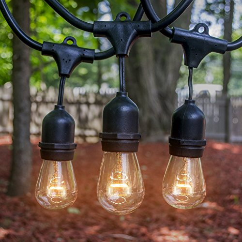 Outdoor String Lights Heavy Duty: LED Concepts® Outdoor & Indoor Edison Style String Lights