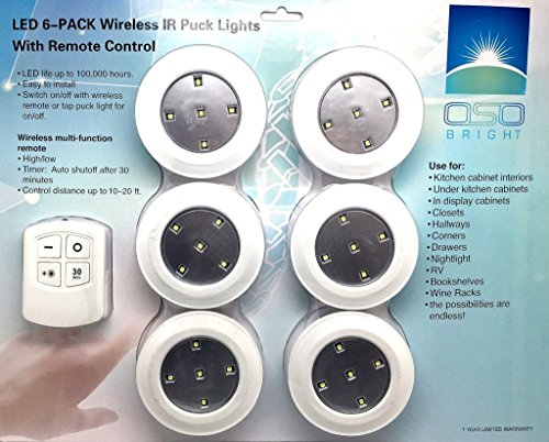 Led Wireless Puck Lights From Oso Bright Use With Remote Control