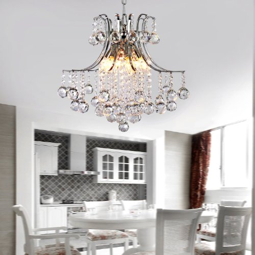 High Quality Ceiling Fan With Lights For Living Room 52: LOCO® Modern Crystal Chandelier With 6 Lights, Modern