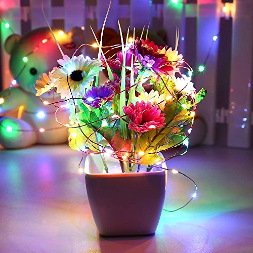 Luckled outdoor solar powered string lights 120 led multi - Indoor string light decoration ideas ...