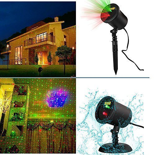 Wall Decoration Laser Lights : Laser light waterproof red green landscape