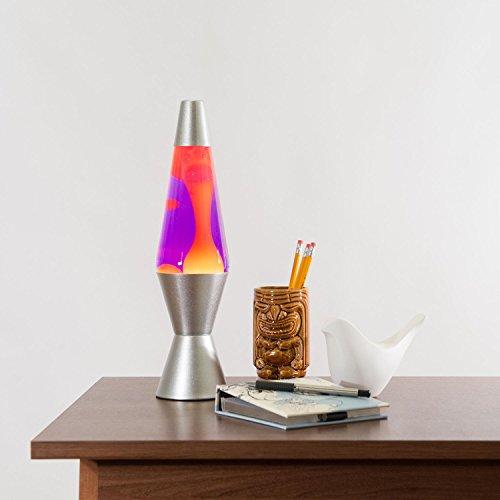 Lava Lite 2125 4002 14 5 Inch Silver Lava Lamp Yellow Wax