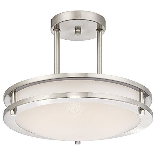 Light Blue™ LED Semi Flush Mount Ceiling Fixture, Antique