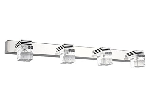 Modern Bathroom Vanity Led Light Crystal Front Mirror: Lightess Modern LED Bathroom Vanity Crystal Wall Mirror