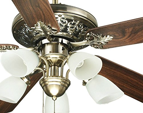Luxury Ol52016 52 Ceiling Fan With Light And Remote Antique Brass By Ocean Lamp Bulbs