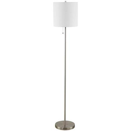 Mainstays Brushed Nickel Stick Floor Lamp Cfl Bulb