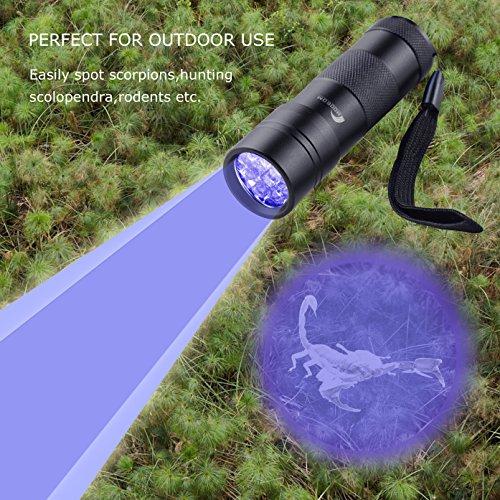 Moobom 12 Uv Flashlight For Detecting Pet Dog Stains