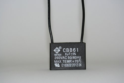 New Tech Ceiling Fan Capacitor 2 Wire 8uf Bulbs