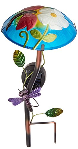 Regal Art And Gift Solar Mushroom Stake Dragonfly No 10342 Garden Decor Bulbs