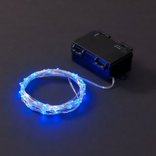 Bright July Diy Outdoor String Lights: Rtgs Micro LED 60 Super Bright Blue Color Indoor And