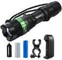 Bike light mount for 1 inch flashlight
