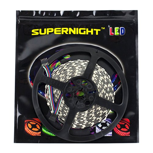 Outdoor Rgbw Led Strip Lights: SUPERNIGHT LED Strip Light, 5050 16.4ft RGBW Non