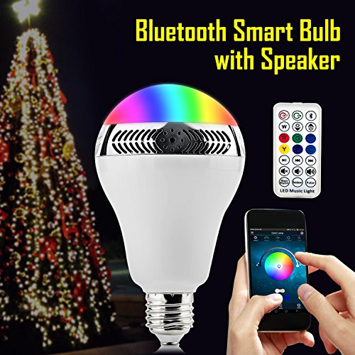 smart bulb speaker fkant multicolored dimmable energy saving bluetooth led music speaker bulb. Black Bedroom Furniture Sets. Home Design Ideas