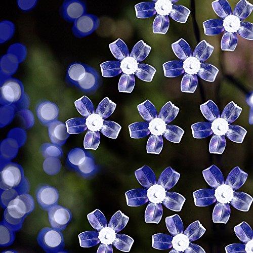 Solar LED String Lights 391ft 100 Led Cold White Flower