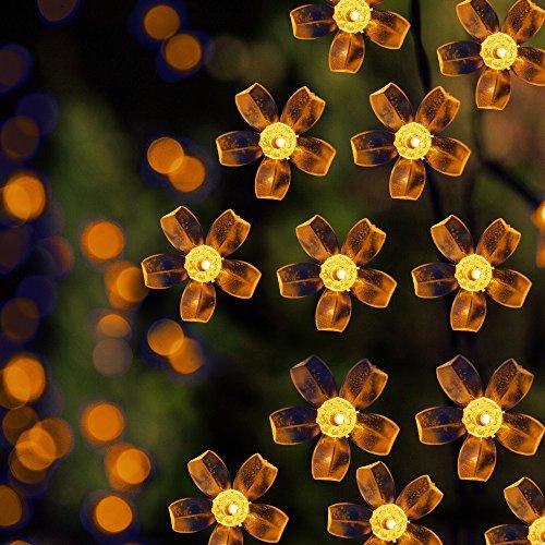 Warm White Solar Garden Fairy Lights: Solar LED String Lights, 39.1ft, 100 Led Warm White Flower