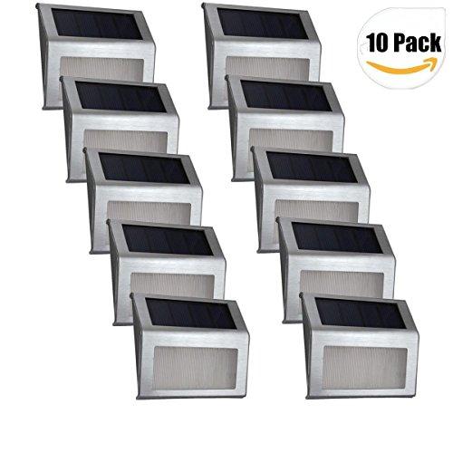Light Step Ed E: Solar Light,Elelink Outdoor Stainless Steel LED Solar Step