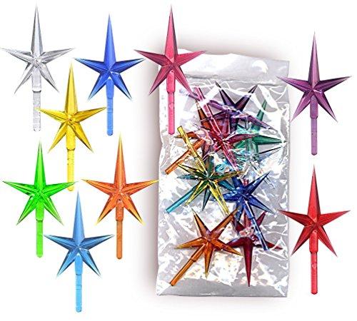 stars plastic medium for the top of the ceramic christmas tree