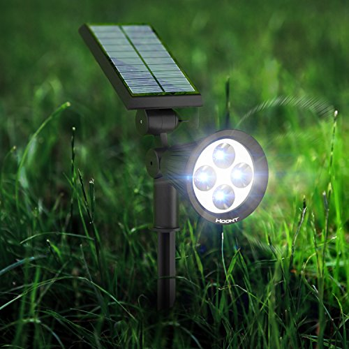 the hoont 2 in 1 bright outdoor led solar spotlight solar powered light for patio entrance. Black Bedroom Furniture Sets. Home Design Ideas