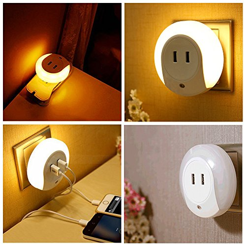Kitchen Great Room At Dusk: USB Charger Night Light, IBeek® LED Night Light With Dusk