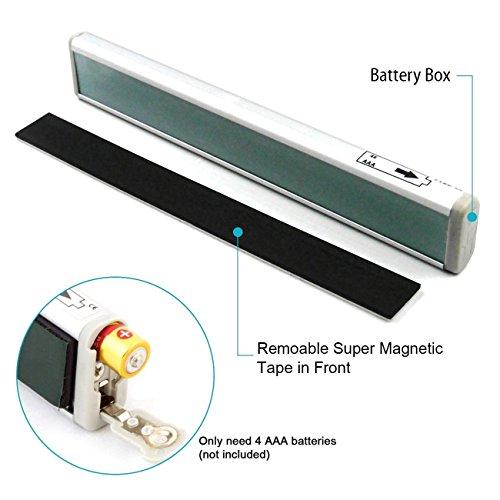 under cabinet light almatess stick on anywhere portable 10 led wireless motion sensor auto. Black Bedroom Furniture Sets. Home Design Ideas