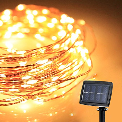 Copper String Lights Diy : [Upgraded Version] Solar Powered 150 LED 72 Feet Starry String Lights Copper Wire Ambiance Light ...