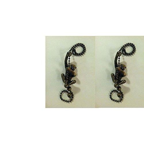 Upgradelights Pair Of Oil Rubbed Bronze Monkey Fan Pulls