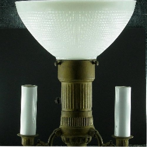 upgradelights ten inch glass floor lamp reflector shade