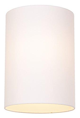 White Cotton Drum Cylinder Shade 8x8x11 Spider Bulbs