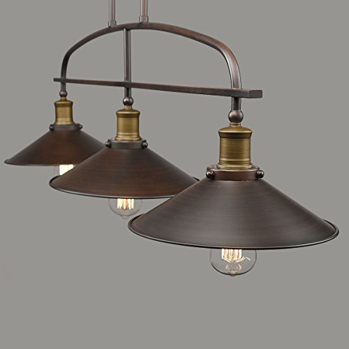 Black Chandelier Lighting Kitchen Vintage Pendant Light: YOBO Lighting Antique Kitchen Island Pendant, 3-light