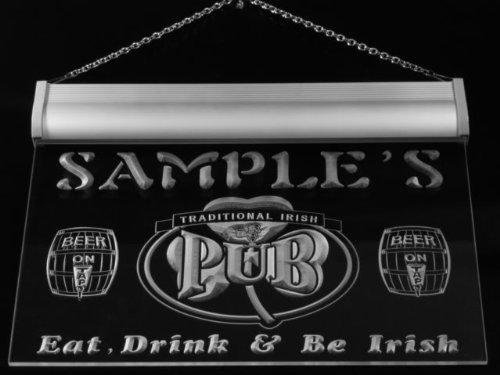 pa1059-b Murphy's Irish Shamrock Home Pub Bar Beer Neon